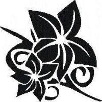 Tattoo šablónka č. 30 - Ľalia