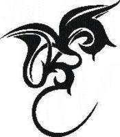 Tattoo šablónka č. 27 - Kvet tribal