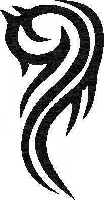 Samolepiaca šablóna na tetovanie ?kový vzor-155