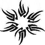 Tattoo šablónka - Hviezda tribal