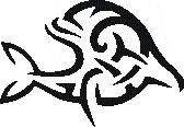Tattoo šablónka - Delfín