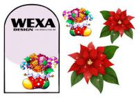 Nail Tattoos - Christmas rose - 141
