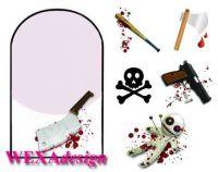 Nail Tattoos - Bloody Guns - 146