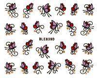 Glitter nálepky - motýliky BLE839D