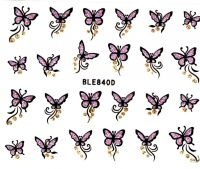 Glitter nálepky - motýliky BLE840D