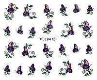 Glitter nálepky - motýliky BLE847D