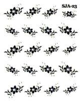 Nálepky Black kamienkové - KvietkySJA23