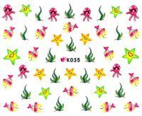 Nálepky na nechty - K035