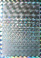 Nálepky plato - kolieska strieborné hologram
