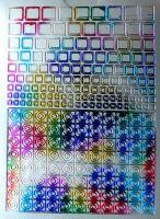 Nálepky plato - štvorčeky farebné