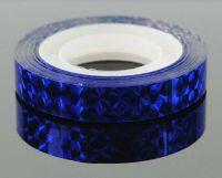 Ozdobná lepiaca páska - modrá hologram