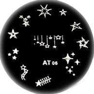 Stamping Nail Art Platnička - AT 06 hviezdičky