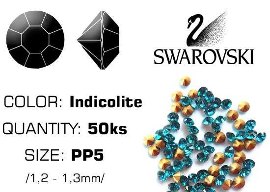 Swarovski kamienky na nechty D - Indicolite PP5