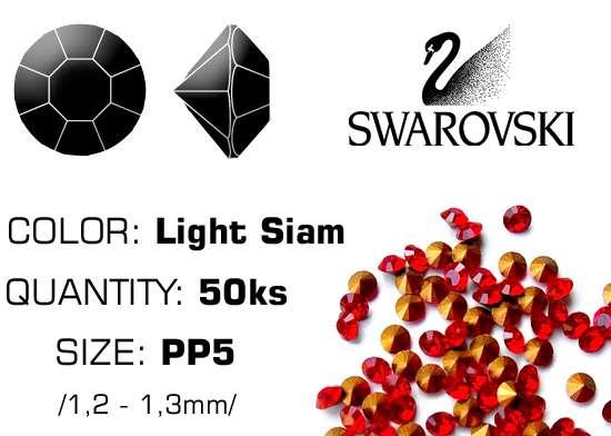 Swarovski kamienky na nechty D - Light Siam PP5