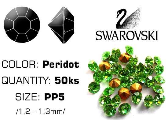Swarovski kamienky na nechty D - Peridot PP5