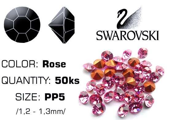 Swarovski kamienky na nechty D - Rosa PP5