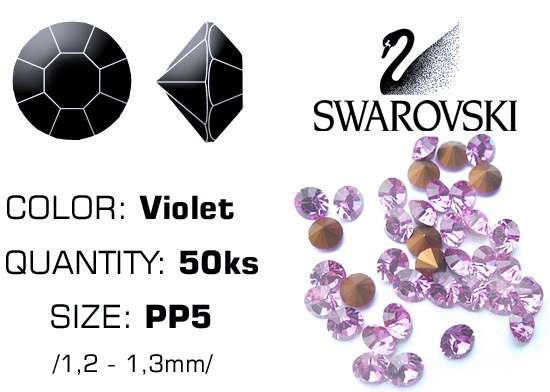 Swarovski kamienky na nechty D - Violet PP5