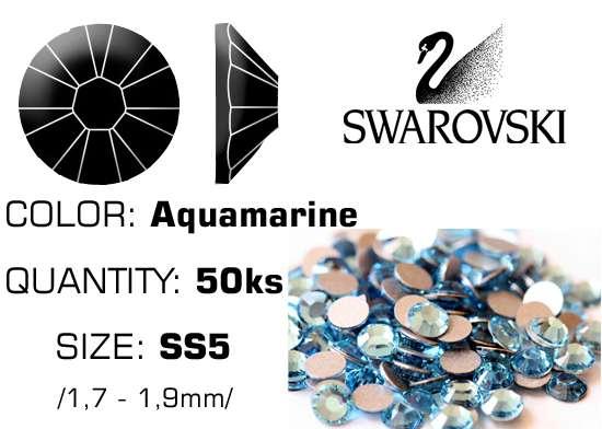 Swarovski kamienky na nechty F - Aquamarine SS5