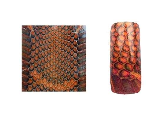 Fake Snake Skin - Orange