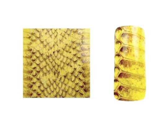 Fake Snake Skin - Yellow