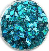 Konfety lupienky - 6. tyrkysové metal hologram