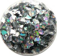Konfety lupienky - 11. strieborné metal hologram