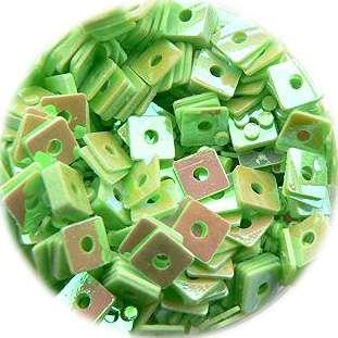 Konfety štvorčeky - 10. bledozelené