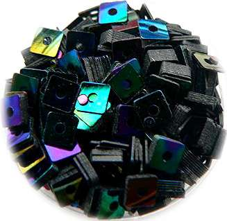 Konfety štvorčeky - 12. čierne dúhové