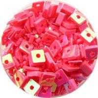 Konfety štvorčeky - 5. krikľavo ružové