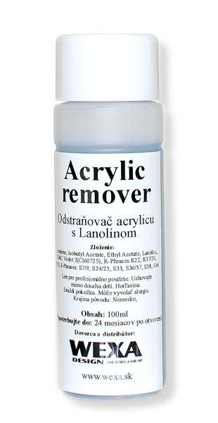 Acrylic remover - Odstraňovač akrylovej modelácie