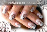 Farebný Glamour Cosmic UV gél - Silver Jewerly