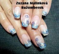 Farebný Glamour Glitz UV gél - Blue Sea