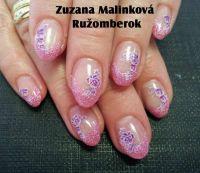 Farebný Glamour Glitz UV gél - Little Pink