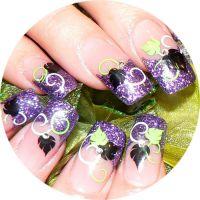 Farebný Glamour Glitz UV gél - Violet