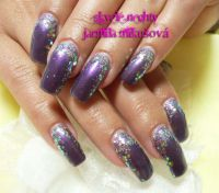 Farebný Glamour UV gel - Purplerita