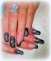 Farebný Glamour Cosmic UV gél - Luxury Black