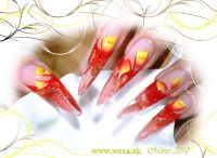 Glitter Goldie - J - neon červený