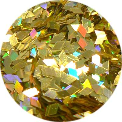 Konfety piky - V zlaté metal hologram L83