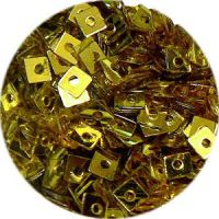 Konfety štvorčeky s dierkou mini - 16 zlaté