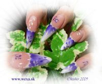 Airbrush Nail Color - Pearly Purple