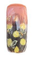 Farebné bodkované pierka na zdobenie nechtov