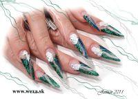 Farebný Glamour Glitz UV gél - Fairy Wing