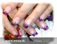 Farebný Glamour Glitz UV gél - Galaxy