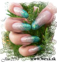 Farebný trblietavý akrylový prášok - Rainbow Glitter - 52