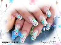 Flower Stickers - Klinček fialkový