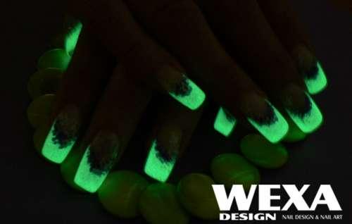 Fosforový gel na nechty - svieti v tme