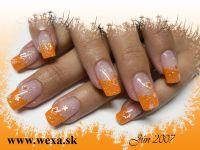 Typy Color French - oranžové