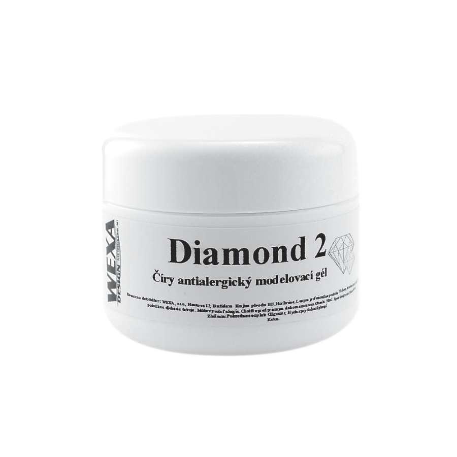 Antialergický modelovací UV gél na nechty Diamond 2 - 15ml