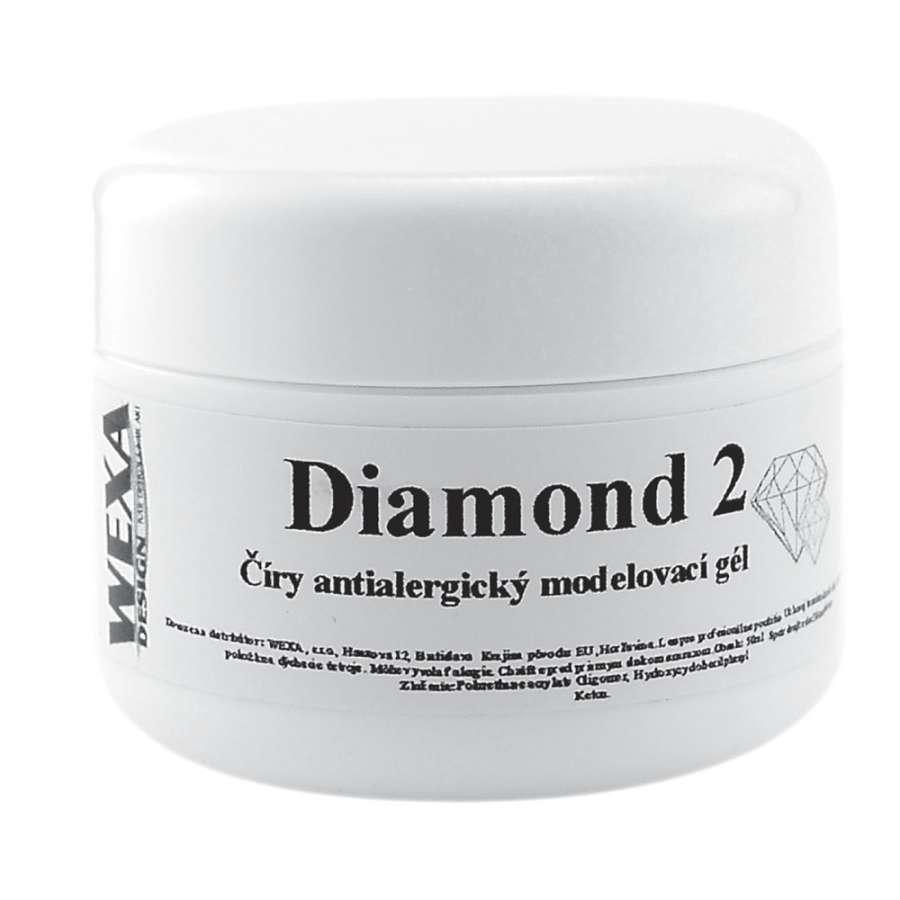 Antialergický modelovací UV gél na nechty Diamond 2 - 50ml