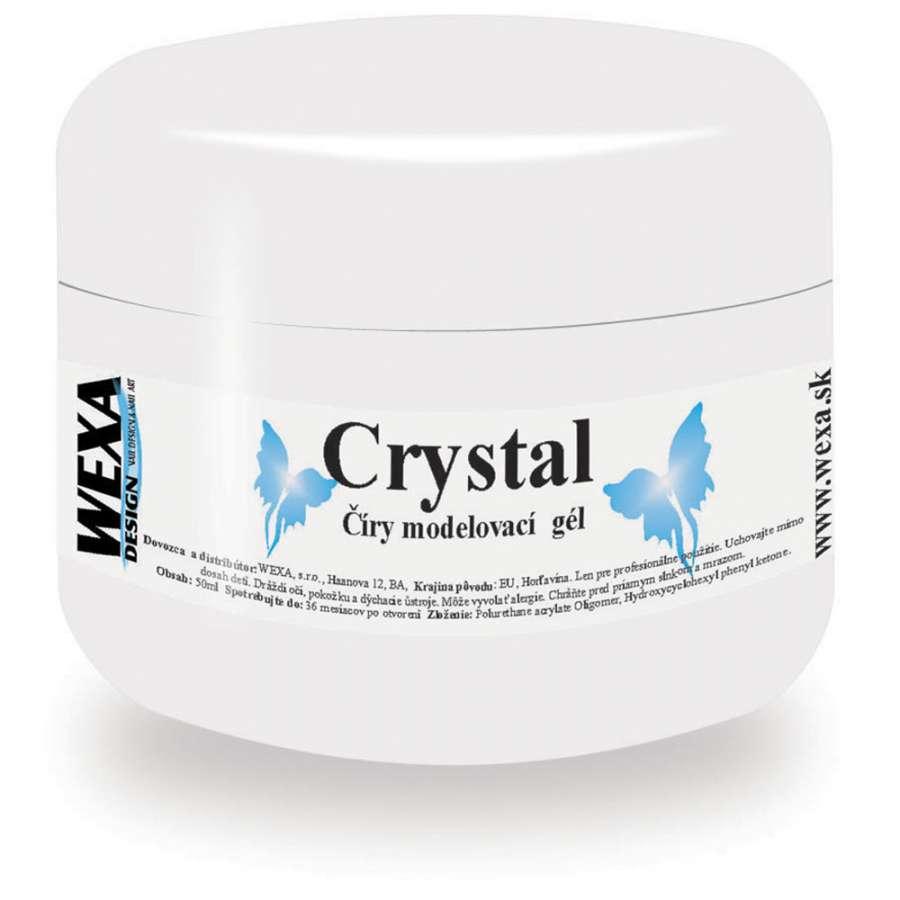 Modelovací hustý UV gél Crystal - 50ml